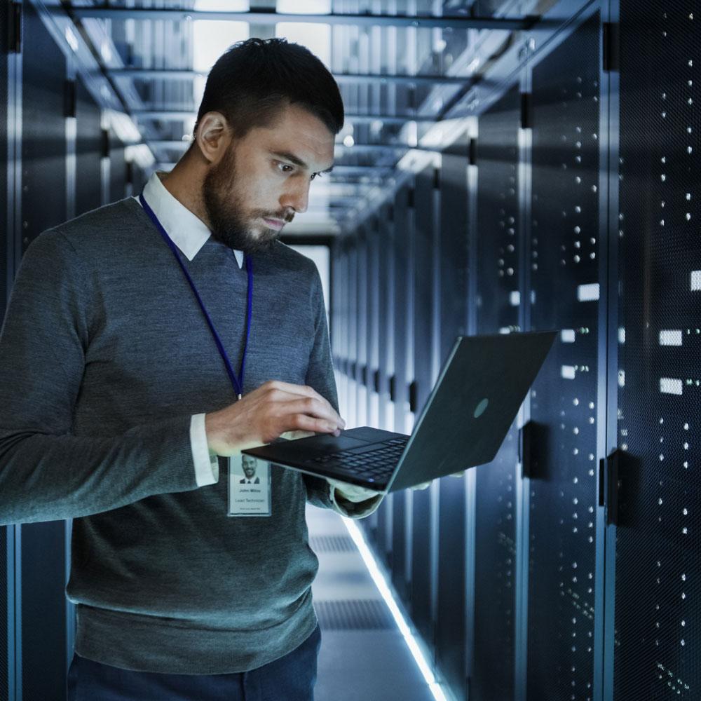 IT Professional Managing a Server